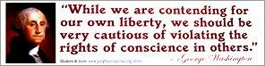 Sticker: Rights of Conscience (George Washington)